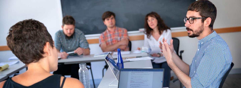 DAAD 2018 summer seminar participants in a classroom